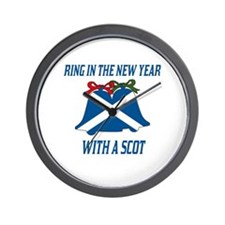 Scottish New Years Wall Clock