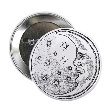 Moon With Stars Circle Button