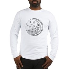 Moon With Stars Circle Long Sleeve T-Shirt