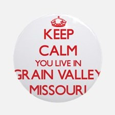 Keep calm you live in Grain Valle Ornament (Round)