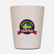 World's Best Farfar Shot Glass