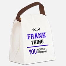 Funny Frank Canvas Lunch Bag