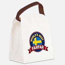 World's Best Farfar Canvas Lunch Bag