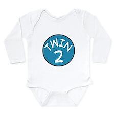 Cute Twin mom Long Sleeve Infant Bodysuit