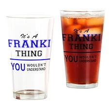 Funny Frankie Drinking Glass
