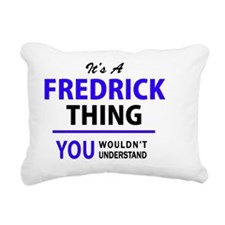 Cute Fredrick Rectangular Canvas Pillow