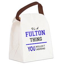 Unique Fulton Canvas Lunch Bag