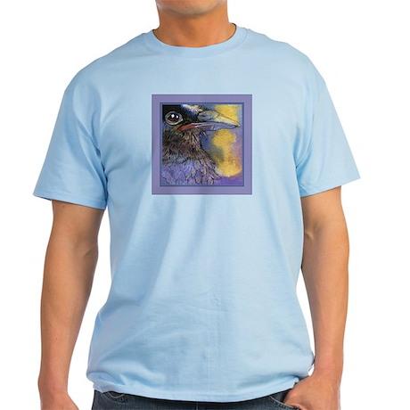 Crow Raven Bird Portrait Light T-Shirt