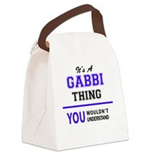 Funny Gabby Canvas Lunch Bag