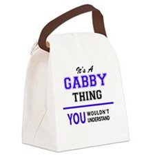 Unique Gabby Canvas Lunch Bag