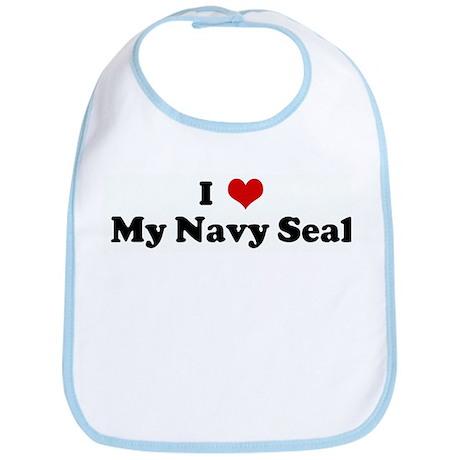 I Love My Navy Seal Bib