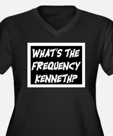 WHAT'S THE FREQUENCY? Women's Plus Size V-Neck Dar