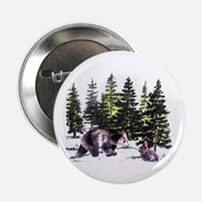 Bear and Bunny in the Woods Button