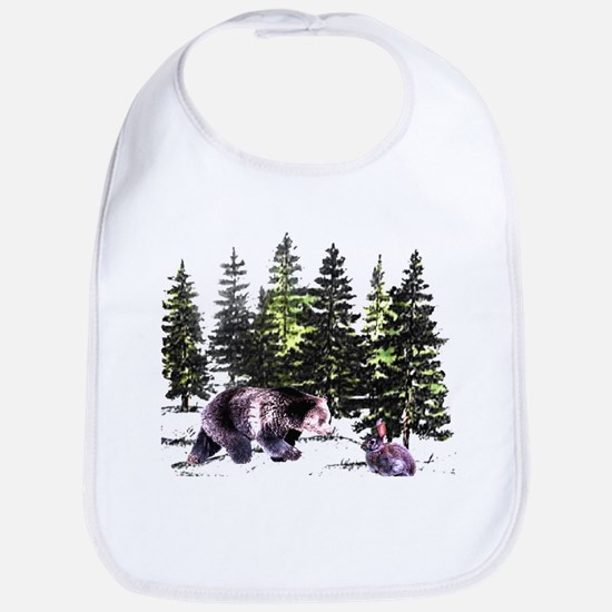 Bear and Bunny in the Woods  Bib