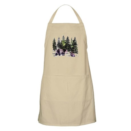 Bear and Bunny in the Woods BBQ Apron