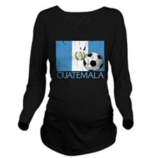 Guatemala Futbol Long Sleeve Maternity T-Shirt