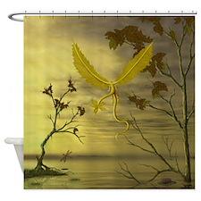 Flying Leaf Dragon Shower Curtain