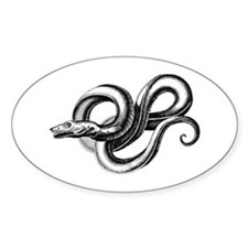 Entwined Sea Serpent Oval Decal