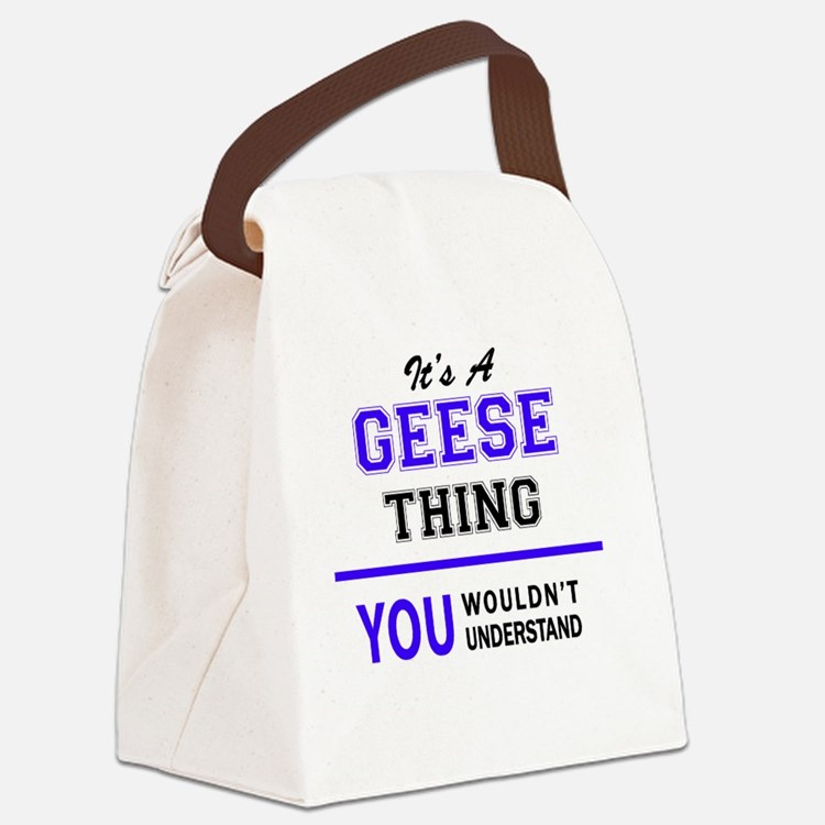 Cute Geese Canvas Lunch Bag
