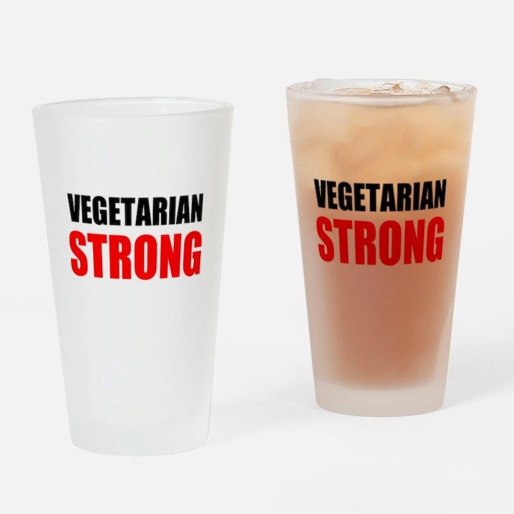 Vegetarian Strong Drinking Glass