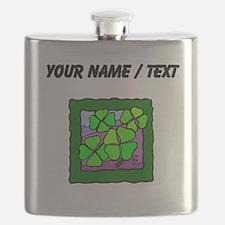 Custom Four Leaf Clovers Flask