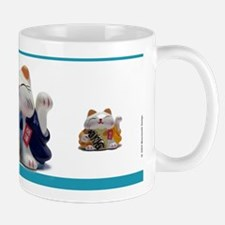 Japanese Fortune Cat Mug - Blue