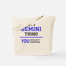 Cute Gemini Tote Bag