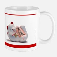 Japanese Fortune Cat Mug - Red