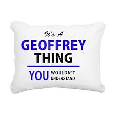Cute Geoffrey Rectangular Canvas Pillow