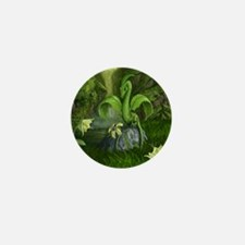 Lily flower Leaf dragon Mini Button