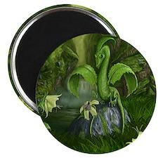 Lily flower Leaf dragon Magnet