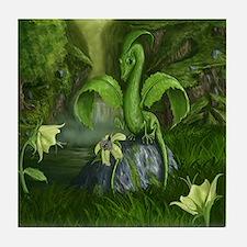 Lily flower Leaf dragon Tile Coaster