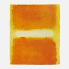 ROTHKO ORANGE AND WHITE LIGHT Throw Blanket
