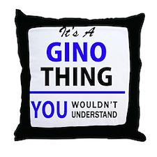 Funny Gino Throw Pillow