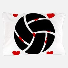 Volleyball Hearts Pillow Case