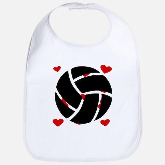 Volleyball Hearts Bib