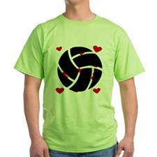 Volleyball Hearts T-Shirt