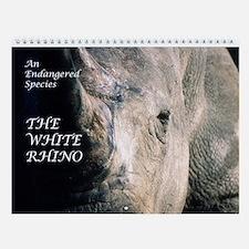 White Rhino Wall Calendar