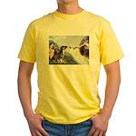 Creation / 2 Dobies Yellow T-Shirt