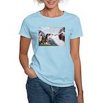 Creation / 2 Dobies Women's Light T-Shirt
