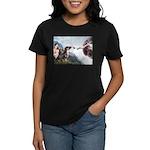 Creation / 2 Dobies Women's Dark T-Shirt