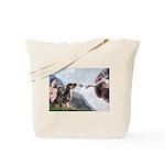Creation / 2 Dobies Tote Bag