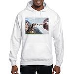 Creation / 2 Dobies Hooded Sweatshirt