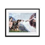 Creation / 2 Dobies Framed Panel Print