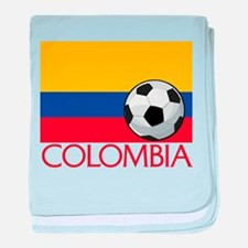 Colombia Soccer / Football baby blanket