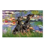 Lilies2 / 2 Dobies Postcards (Package of 8)