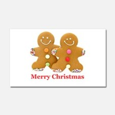 Gingerbread Men Car Magnet 20 x 12