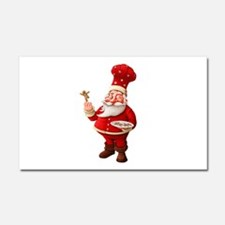 Santa Claus Bakes Gingerbread M Car Magnet 20 x 12
