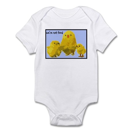 We're Not Food: Chickens Infant Bodysuit