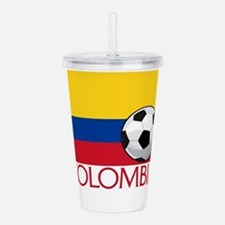 Colombia Soccer / Foot Acrylic Double-wall Tumbler